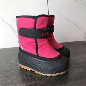 L.L. Bean Northwoods Toddler Pink Snow Boots